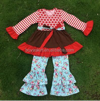 Fall /winter 2015 Giggle Moon Remakes Children Boutique Clothing Sets Girls Thanksgiving Days Outfits