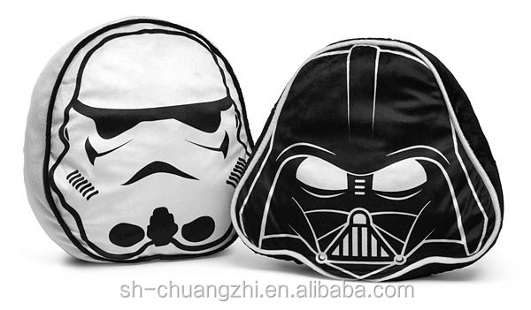2016 Wholesale China Factory custom stuffed Toy Plush Soft Darth Vader & Stormtrooper Throw Folding Pillow Pets