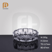PFT crystal cigarette glass ashtray