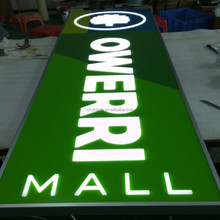 3d customize double sided for supermarket front lit outdoor led light box