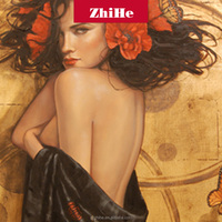 dropshipng custom painting gallery artistic impressions paris paintings canvas wall art women nude back for decor home