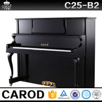 Carod C25B2 black polish wooden piano with chair cover and chair