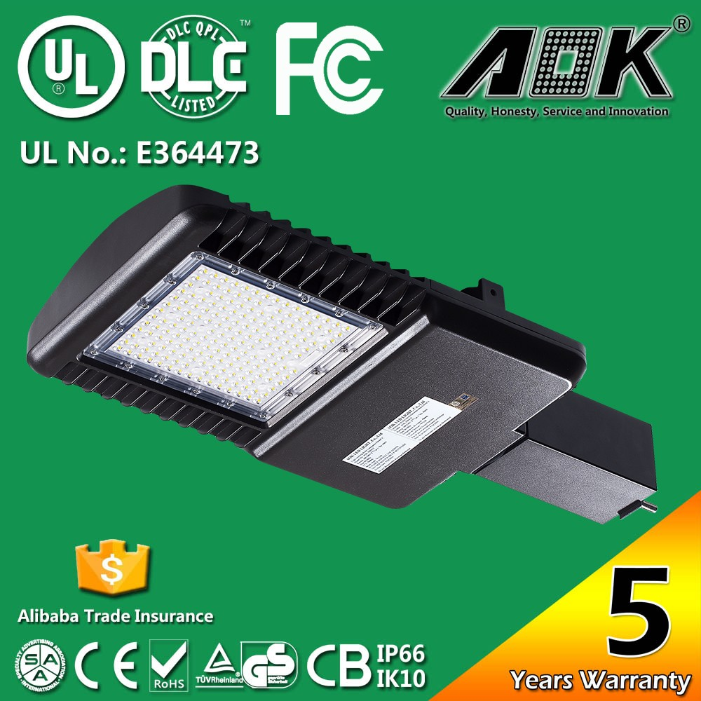 High Power Aluminum <strong>Alloy</strong> IP66 IK10 Photocell Waterproof UL LED Street Light Outdoor Price List