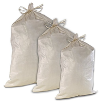 "Woven Polypropylene Sand rice Bags 15""W x 27""L PP heavy loading big capacity"