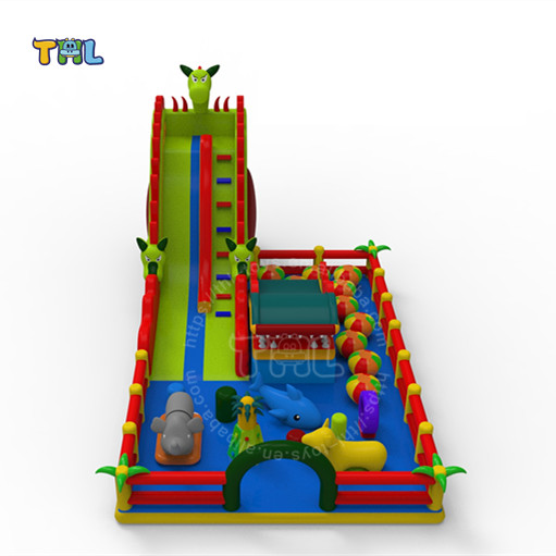Guangzhou Inflatable Indoor Outdoor Playground Inflatable Fun City for Sale