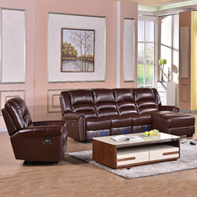factory wholesale 3 Seater Manual Recliner Sofa 2 Seater Console Manual Recliner corner sofa for living room furniture