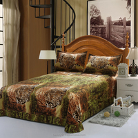 4-Pieces Embroidery leopard Bedding Set King Size Queen Size tiger Bed Set Duvet Cover cheap Bed Sheet BS54