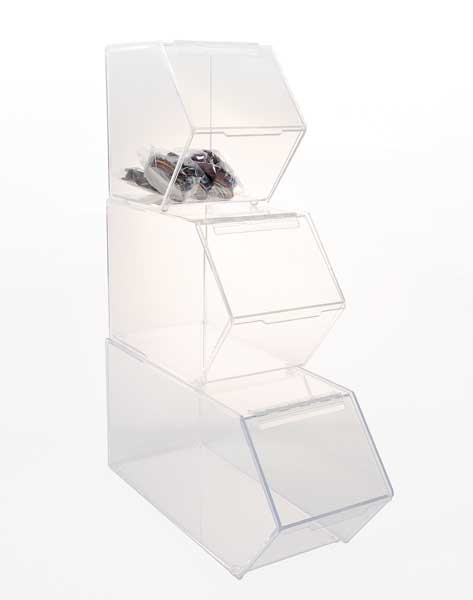 Clear Acrylic Stackable Bulk Bin Storage Box