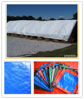 150gsm blue white hdpe recycle material plastic tarpaulin