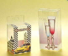 custom clear plastic wine glass cup box