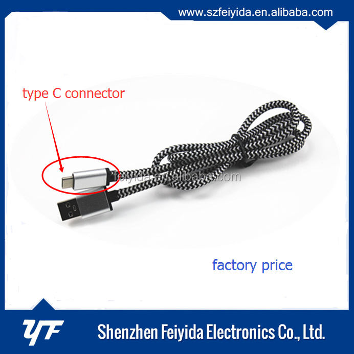 Braided usb 3.0 to Type C cable OD: 4.5