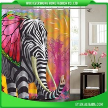China Supplier Custom Color Changing Shower Curtain