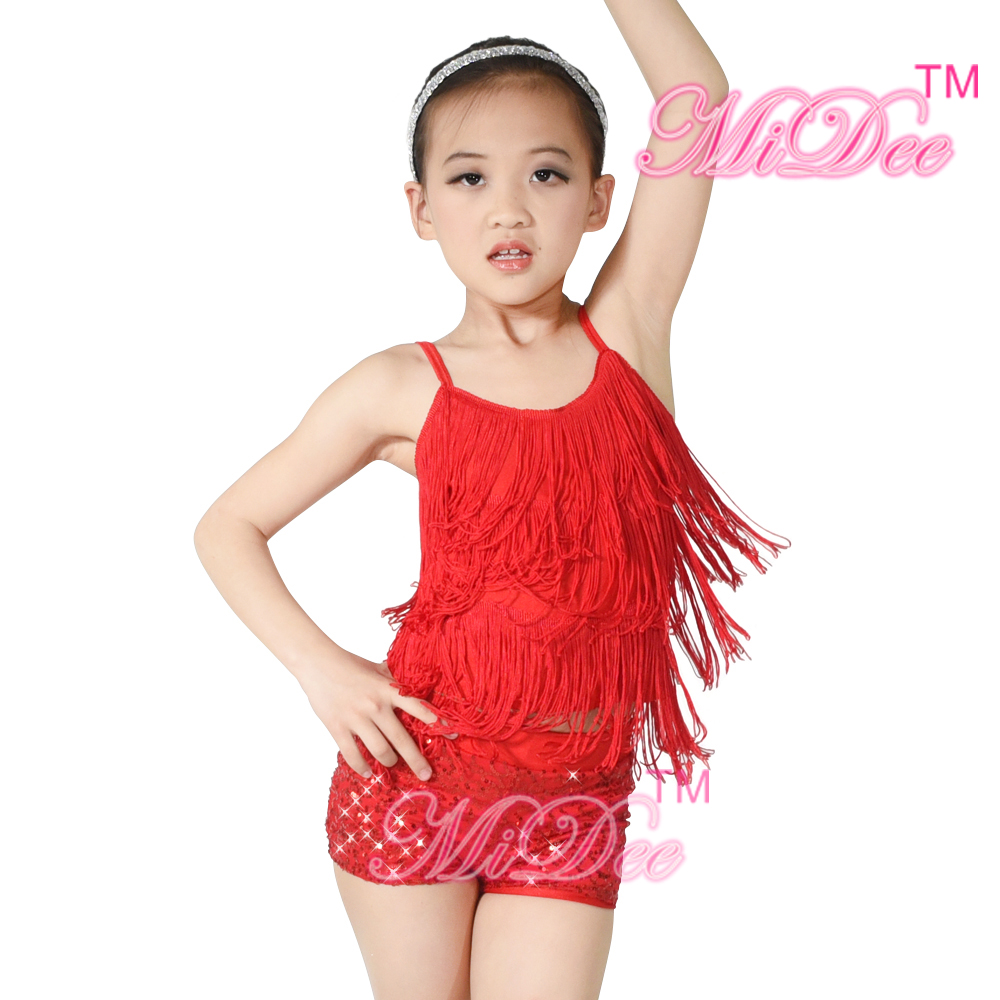 Fashion Children Girl Latin Stage Costumes/Sexy Fringe Latin Dress/Ballroom Dress