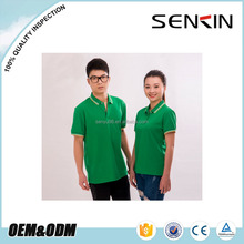 OEM high quality promotion cheap polo t shirt 100% Polyester green couple polo