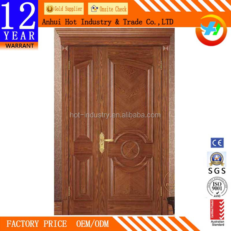 Customize Size Mom And Son Wooden Door Main Entry China Imported Safety Wooden Door