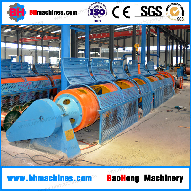 JGG 400/1+6 Three Bearings Type Tubular Stranding Machine Supplier for Copper, Aluminum Bare Wire and Steel 7 Wire Strand