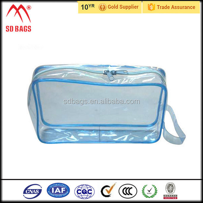 Classical Design clear cosmetic bag , travel cosmetic bag