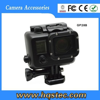 go pro waterproof case Go pro Black Housing For Go pro Hero4/3+/3 Camera with Bracket,Black Waterproof Case