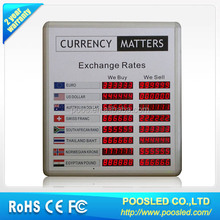 bank exchange sign signage \ currency exchange billboard screen \ currency exchange board banner