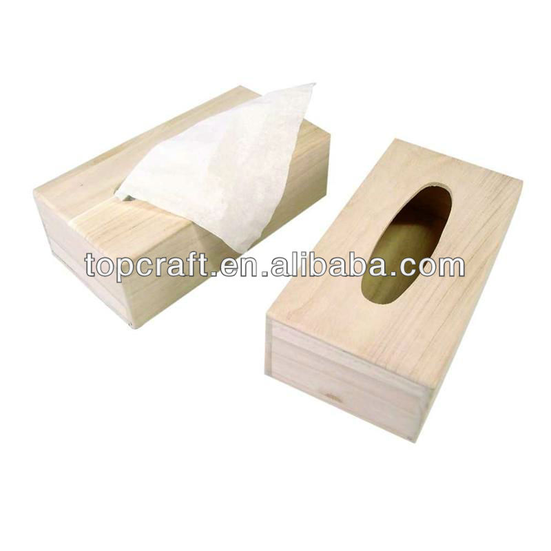 Wooden Craft Tissue Box With Hole Holder Decorate Personalised Gift