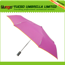 new design advertising 3 fold auto open and close led umbrella