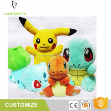 Children gift Wholesale Stuffed pokemon plush toy, Pikachu Plush, Charmander gift toy animal