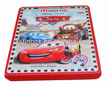 Custom print Cmyk metal flat jigsaw puzzle cards tin packing box