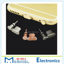 3.5mm Earphone Jack Dust Plug Eject Pin 2 in 1 Metal Light ning Charge Port Dust Plug For Phone 7 6S 6 Plus SE 5S 5
