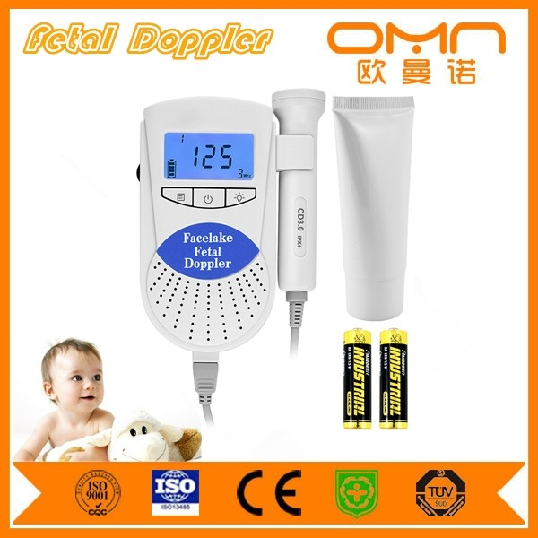 Sweetie Song Pocket Backlight LCD 100S6 Fetal Doppler Baby Heart Monitor