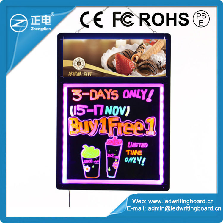 Hot Sales ZD LED Reboard 90 Flashing Modes LED Walking Advertising Board Aluminum Alloy Frame LED AD Board