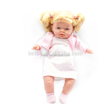 33 CM Lovely White Face Plush Cute Baby Dolls Lifelike Funny Doll for Baby