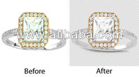 Jewelry product images retouch or background remove