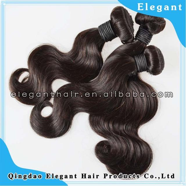 hot selling 100% virgin Malaysian and Peruvian human hair 3 piece lots light yaki hair wavy hair weft