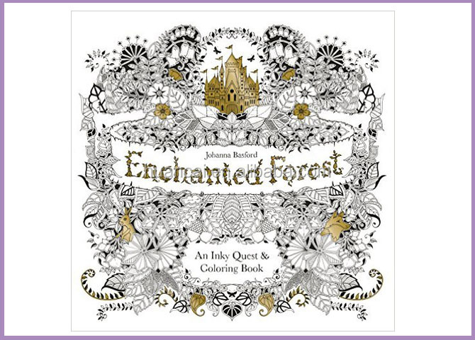 Enchanted Forest An Inky Quest Art Coloring Book Graffiti Painting Drawing Book For Children Adult Kids Relieve Stress Kill Time