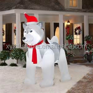 Hot sale custom giant husky dog christmas inflatable for sale
