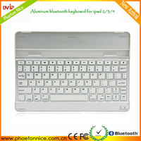 Golden Supplier 2092 small Aluminum wireless bluetooth keyboard for ipad 2/3/4 russian language keyboard