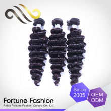 Grade 7a Malaysian deep wave human hair bundles Guangzhou hair extensions