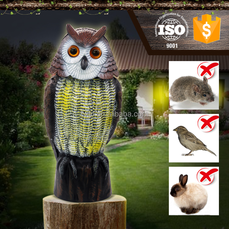 bx003-1 eco-friendly plastic bird animal scare electric head move with senor control products