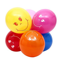 Factory price Latex Smile Balloon For Birthday Party/printed round balloon