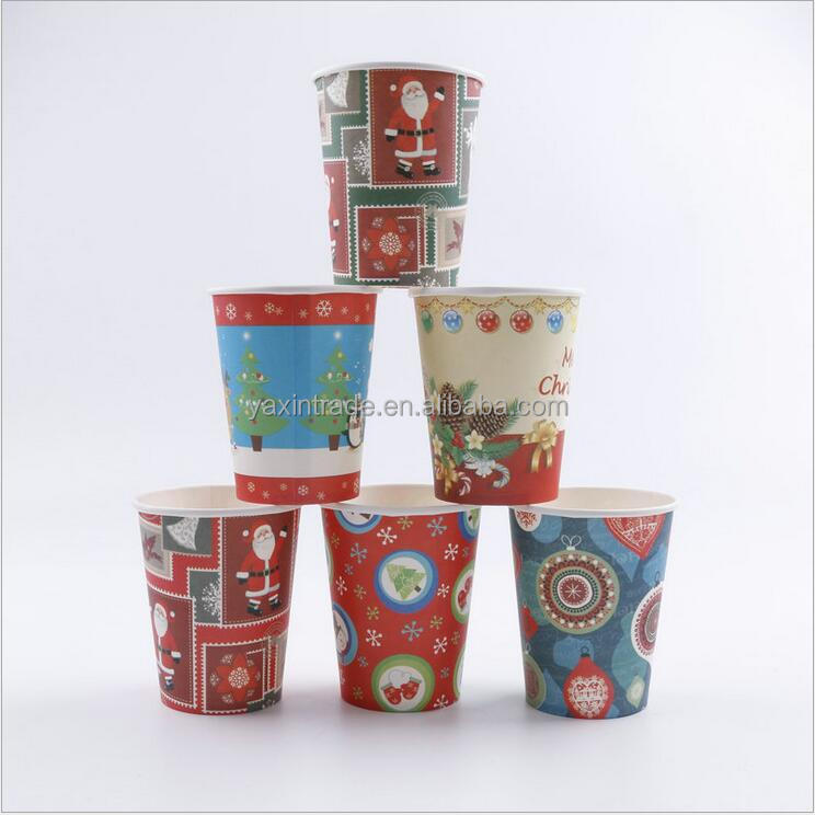Factory Wholesale Personalized Christmas Paper Cups