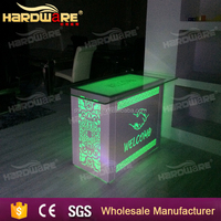 foshan LED wedding table and chairs/led special wedding table metal base and chairs