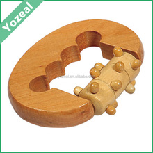 High quality wooden personal handled finger massager for men