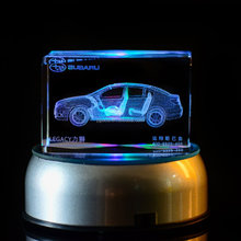Hot sale Products personal customized 3d engraved small car crystal glass model car
