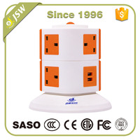 UK type tower electric extension power usb outlet 5V 2.1A ac socket with fuse and switch