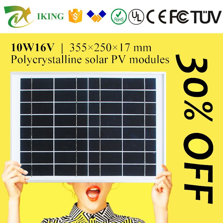 Best Price For 12V 10W Solar Panel Price With Alloy Frame From China