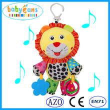 Babyfans Toys 2015 New Products Cartoon Character Lion With Bell Baby Hanging Toy Good Quality Baby Musical Toys baby products