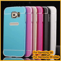 Factory price!hot selling Aluminum pc 2 in 1 case for samsung galaxy s6 G9200 back covers, high quality case for samsung S6 edge