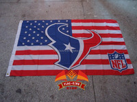 Houston Texans logoslick Polyester custom flag ,90X150 CM size,Digital printing,NFL banner