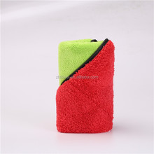 Double side 80% polyester and 20% polyamide microfiber car cleaning towel , promotional towel