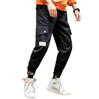 Men cargo pants streetwear for wholesale with side pocket in warehouse